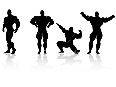 istockphoto_3940600_bodybuilding_silhouette_collection